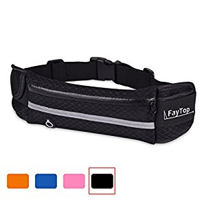 FayTop Running Belt / Waist Bag With Water Bottle Holder